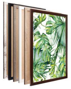 Rama B1 brązowa orzech drewniana 100x70